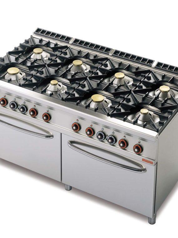 Cucina a gas con due forni